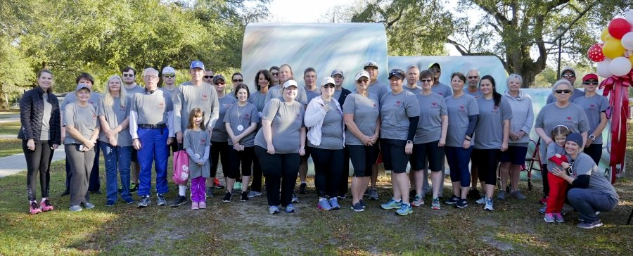 The Chevron team poses at the 2017 Jackson County MS Heart Walk in Pascagoula on March 18.