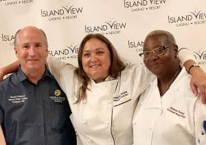 Chefs David Crabtree, Jackie Seavey and Deborah Thomas.
