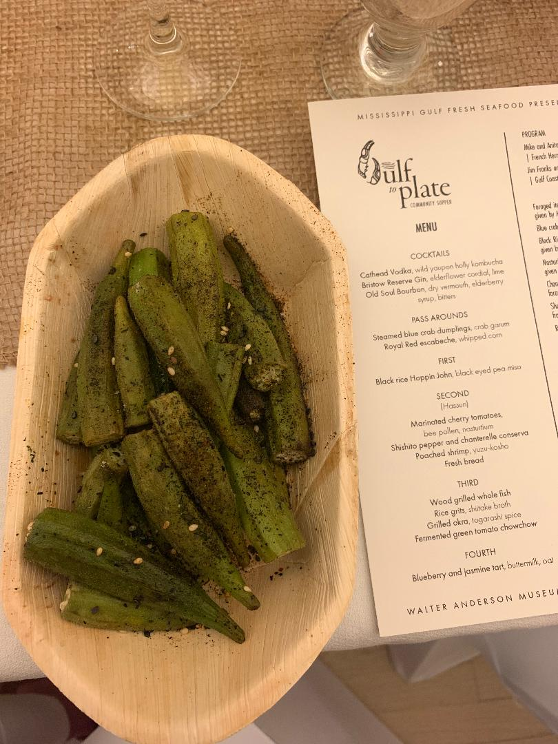 pop-up dinner okra