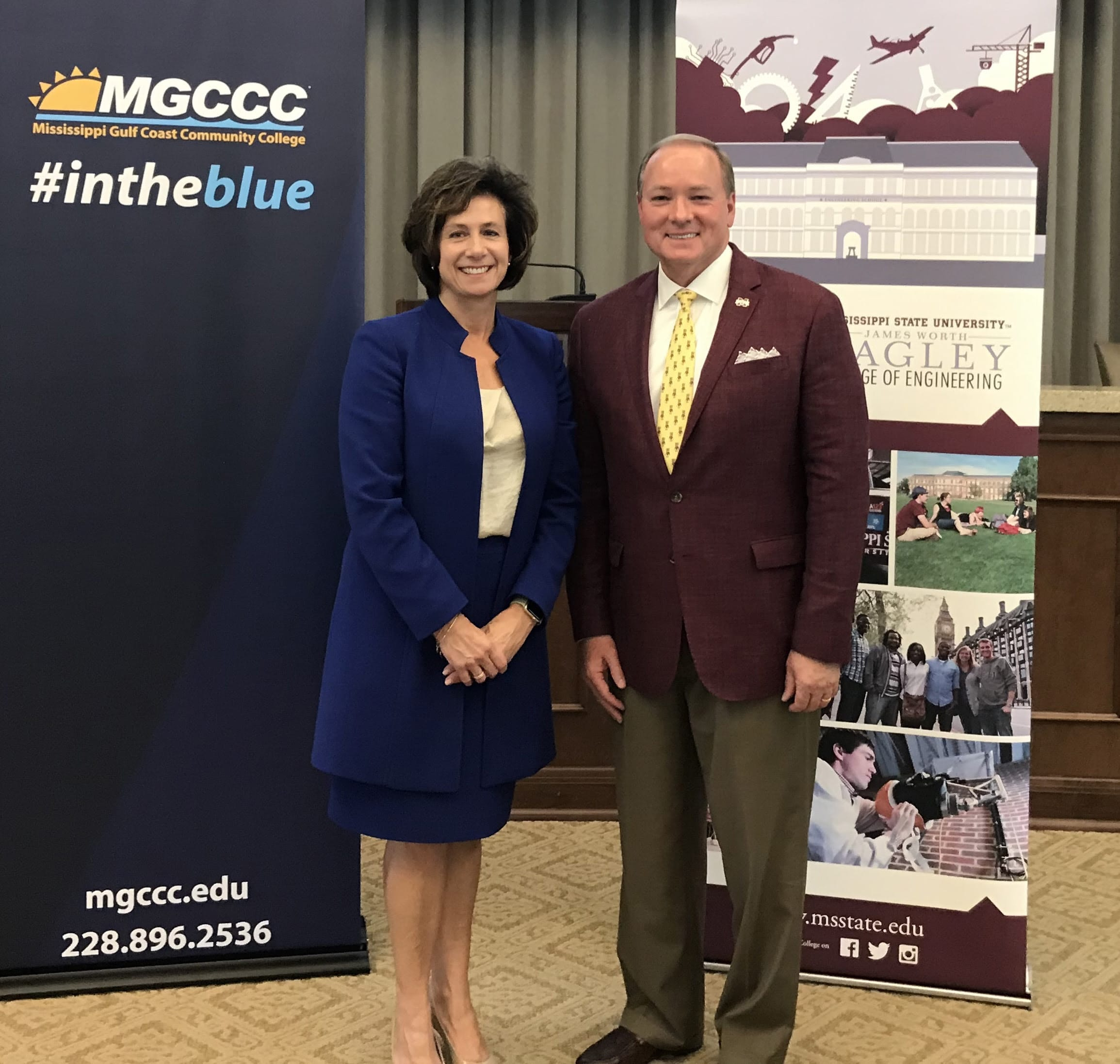 MSU President Mark E. Keenum and MGCCC President Mary S. Graham
