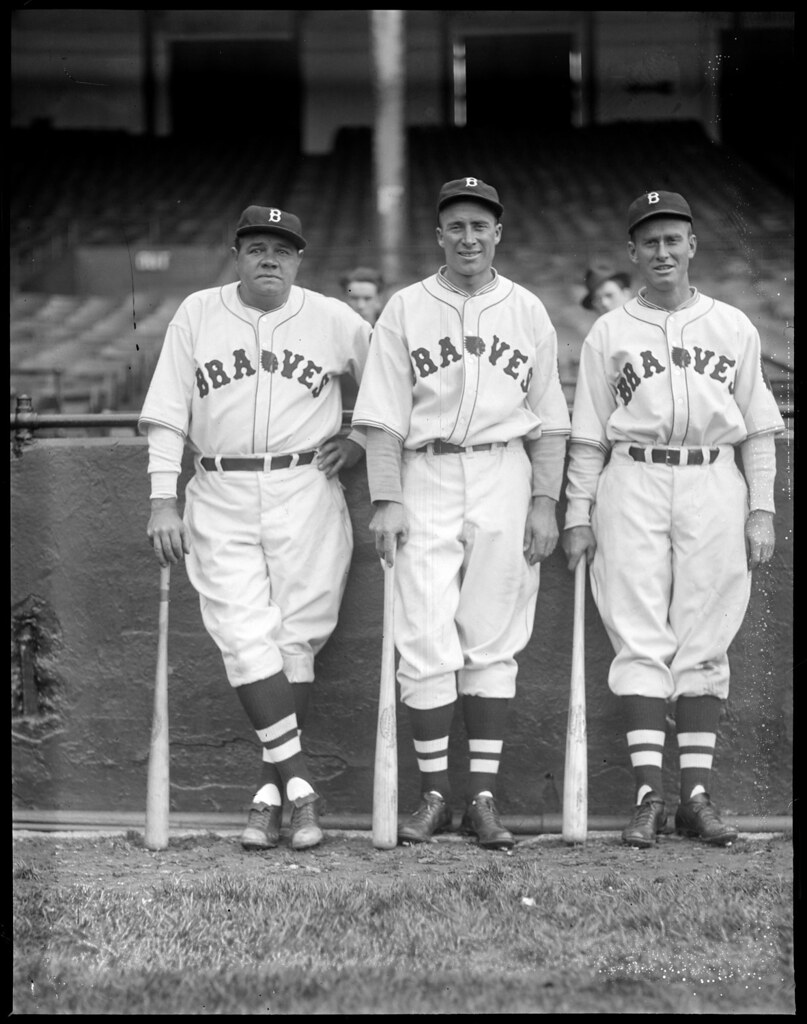 Hal Lee with Babe Ruth