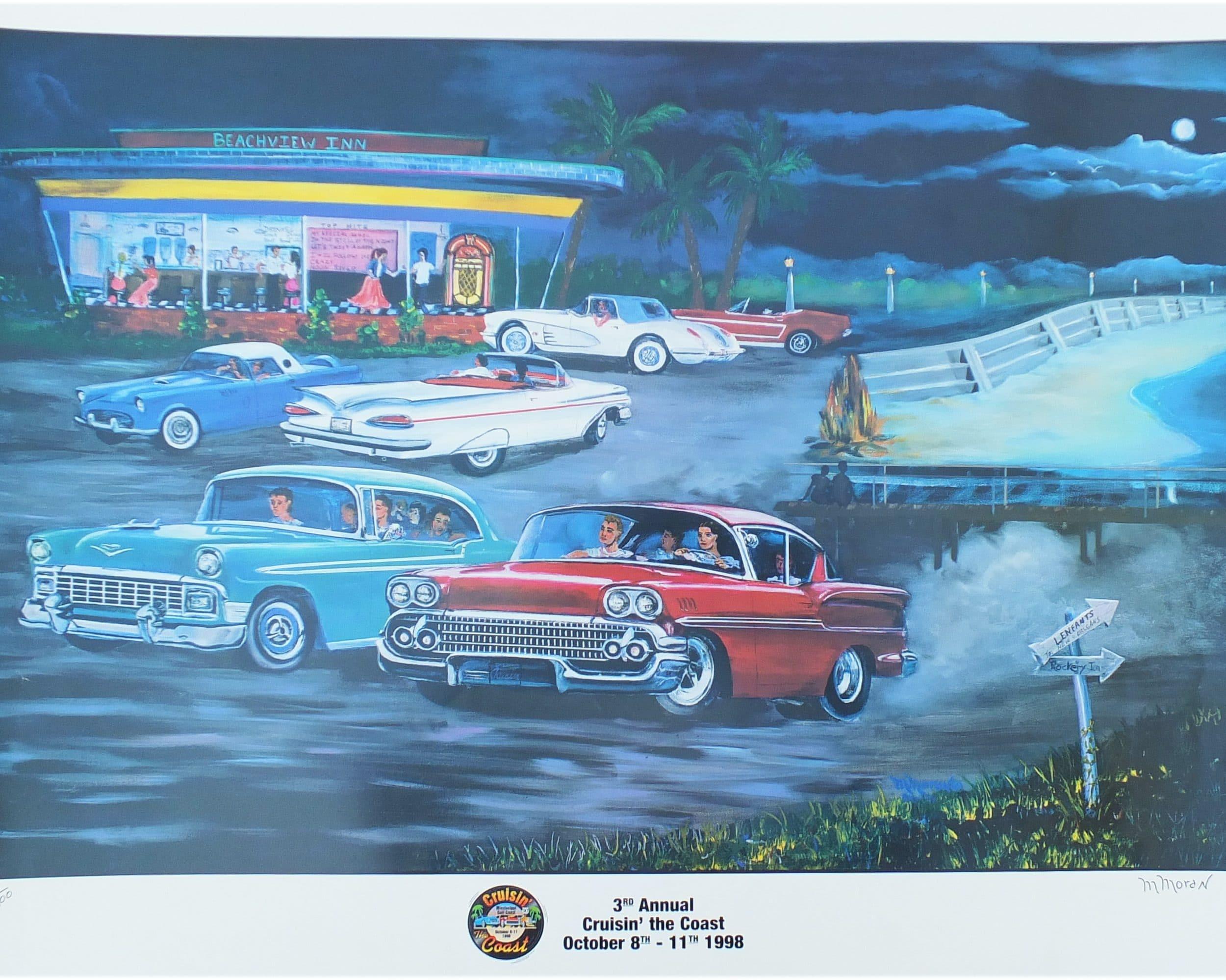 Cruisin' the Coast poster 1998 by M Moran